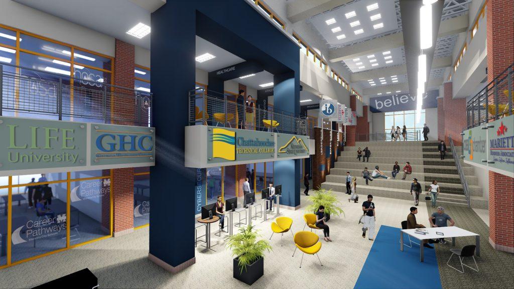 Interior rendering of new Marietta High School