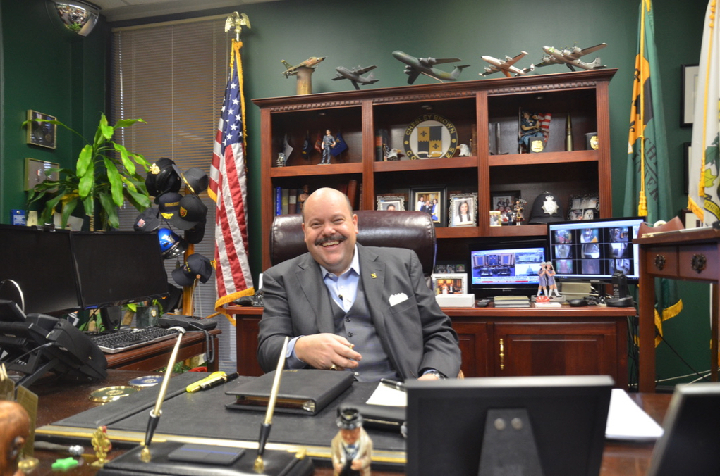 Brent Brown in his office