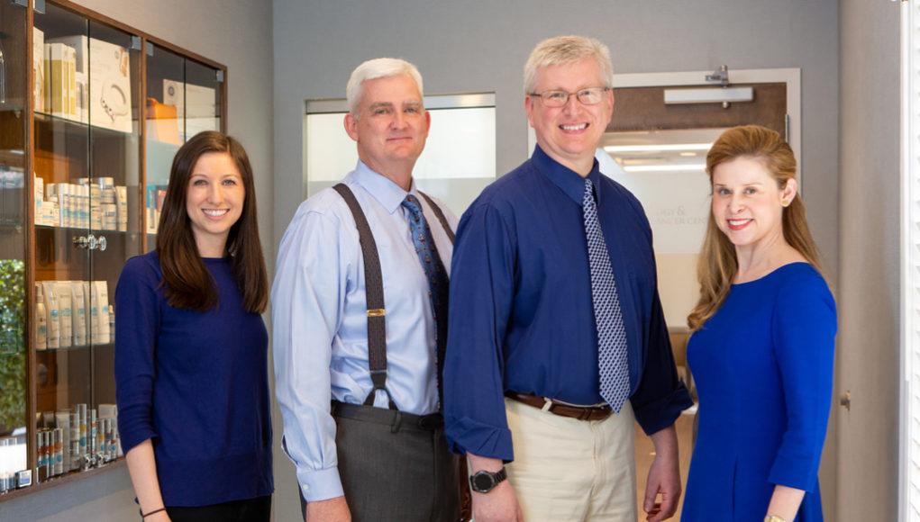 Left right: Drs. Jessica Harris, Mark Knautz, George Dobo, and Elizabeth Richwine.