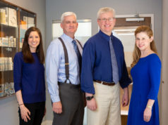Left right: Drs. Jessica Harris, Mark Knautz, George Dobo, and Elizabeth Richwine.