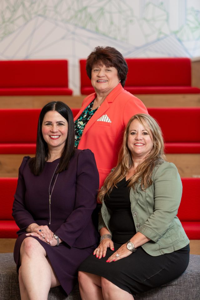 Cobb's leaders in tech: Michelle Pluskota (left), Sharon Stanley (center), and Heather Orrico (right).