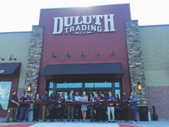 Ribbon cutting ceremony for Duluth Trading Company store in Kennesaw.