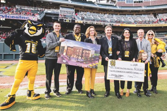 KSU Athletics director receives donation for new sports complex.