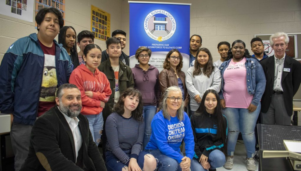 Campbell High's graphic design students created the CBA's logo.