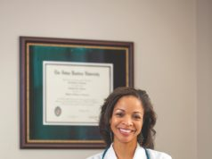 Dr. Ganielle Hooper in her office