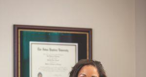 Dr. Ganielle Hooper in her office