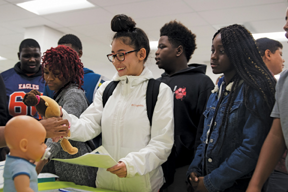 Garrett Middle School students taking part in Reality U.