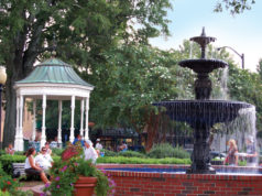 The fountain in Marietta Square