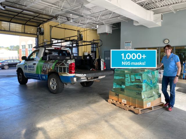 NW Metro Atlanta Habitat for Humanity has donated more than 1,000 N95 masks to Cobb & Douglas Public Health