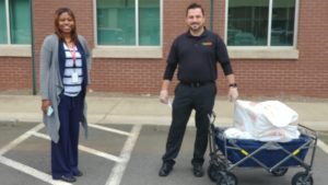 Tropical Smoothie Cafe owner delivering food to hospital