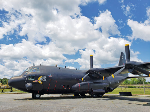 Lockheed AC-130 Spectre (a variant of the locally built C-130 Hercules )