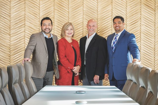 Murali Krishnan, LGE Chief Information Officer, Carol Wagner, LGE Chief Administrative Officer, Rodney Grizzle, LGE Chief Operations Officer, Sean Ferrell, LGE Chief Financial Officer.