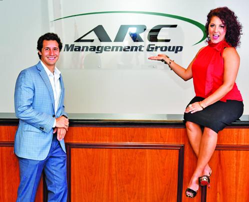 ARC Management Group's Brandon Wilson and Alexandra Carpanzano.